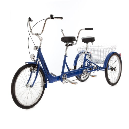 Dreirad-Tandem. Kostenlose fahrbereite Lieferung bis vor die Haustür