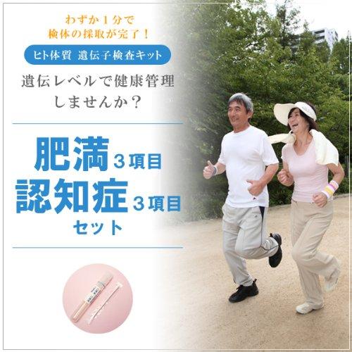ヒト体質 遺伝子検査キット(DNA検査) 検査2種類セット(肥満・認知症)【メール便配送】