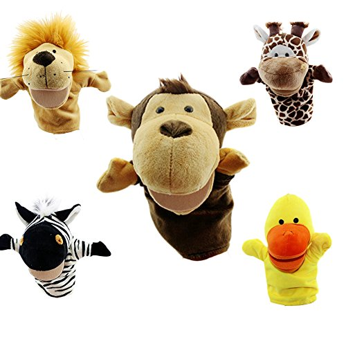 Yantu Cartoon Animal Hand Puppet Soft Plush Puppets Baby Toys MONKEY