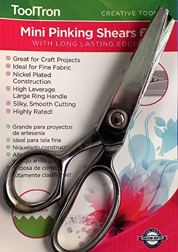 Find Bargain Tooltron 6 Pinking Shears, Mini