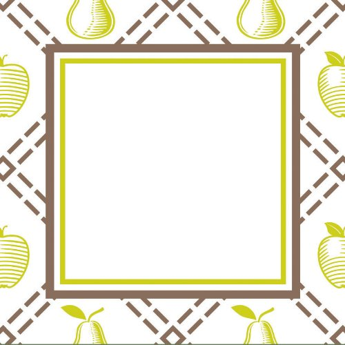 Three Designing Women Designer Gift Tags, Green Cook Collection front-72123