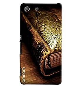 Omnam Old Book Closeup Printed Designer Back Cover Case For Sony Xperia M5