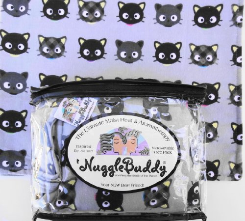"'Nugglebuddy Pets Moist Heat & Aromatherapy Organic Rice Pack For Microwave For Cats Or Cat Lovers! Cozy Flannel ""Meow"" Fabric. Unscented. Find Many Other 'Nugglebuddy Choices By Searching Nugglebuddy Under ""All Departments."" Overnight Shipping Available!"