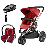 Quinny Buzz Xtra Red Rumour with Cabriofix Raspberry Red and FamilyFix Base