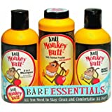 Anti Monkey Butt Bare Essentials Gift Pack - 2 in 1 Shampoo 12 oz - Anti Friction Powder 6 oz - Body Wash 12 oz