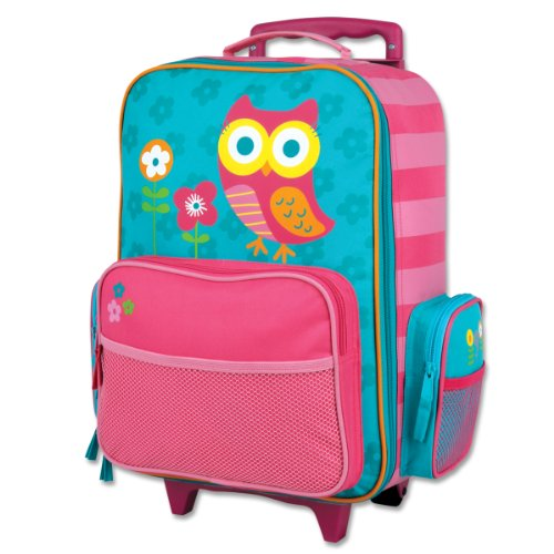 Stephen-Joseph-Little-Girls-Rolling-Luggage-Owl-Teal-One-Size