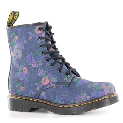 Dr martens castle denim floral womens boots size 7 uk for Amazon dr martens