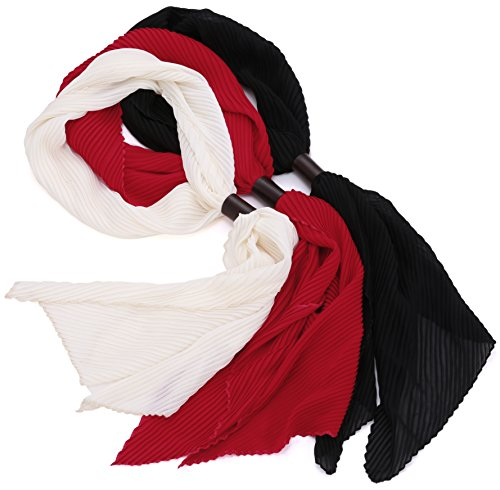 Womens-Lightweight-Polyester-Solid-Color-Fashion-Scarf-Set-of-3-by-Marino-Ave