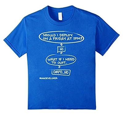 SHOULD I DEPLOY ON A FRIDAY AT 5PM Funny Developer Shirt