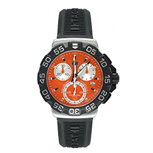Tag Heuer Formula 1 Orange Dial Rubber Strap Quartz Mens Watch CAH1113.BT0714