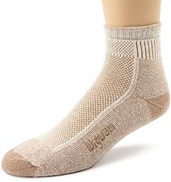 Wigwam Men\'s Cool-Lite Hiker Pro Quarter Socks, Khaki, Large