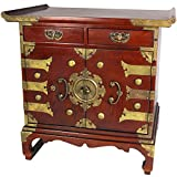 "Asian Furniture & Home Décor - 25"" Japanese Design Tansu Style End Table Nightstand Cabinet"