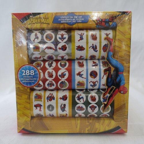 Spider-Man, SpiderMan, Spider Man STICKERS 288ct., (2 Pack)