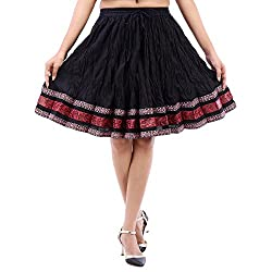 Prateek exports Beautiful Plain Black Fashionable Skirt