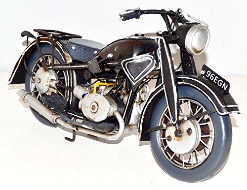 Motorcycle Black Metal Motorcycle Model Vintage 1932 Sheet Metal Motor Bike Motor Cycle Bike Model The Tin 33 cm 37292