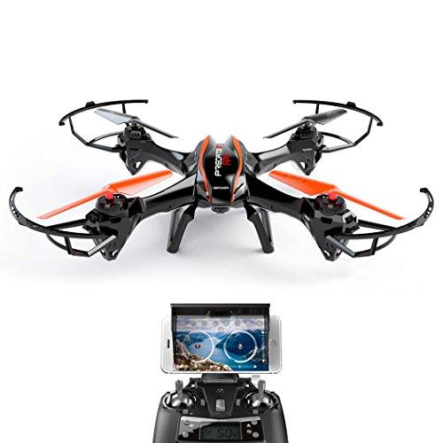 DBPOWER-U842-Predator-Mega-Drohne-mit-Kamera-HD-2MP-DBPOWER-WiFi-Echtzeit-Quadrocopter-mit-Niederspannungs-Warnung-Schwerkraftinduktion-und-Kopflos-Modus-Drone