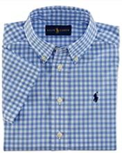 Ralph Lauren Polo Boys Blue Gingham Short Sleeve Shirt