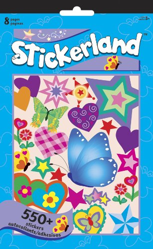 Butterflies Stickerland Activity Pads - 8 Page