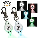 Flashing Bright LED Safety Lights for Dogs & Cats with On/Off Switch (2-Pack) by K9konnection   Attachable to Leash or Collar with Clip On Hook   Superior Visibility for Night Walks