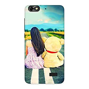 Special Girl Teddy Multicolor Back Case Cover for Honor 4C