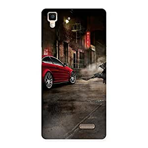 Premium Red Car Impact Multicolor Back Case Cover for Oppo R7