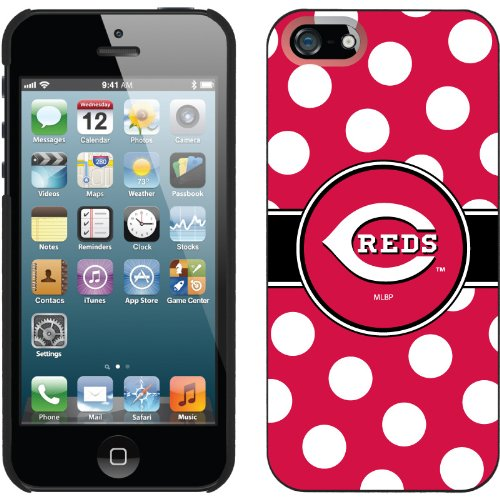 Great Price Cincinnati Reds - Polka Dots design on a Black iPhone 5 Thinshield Snap-On Case by Coveroo