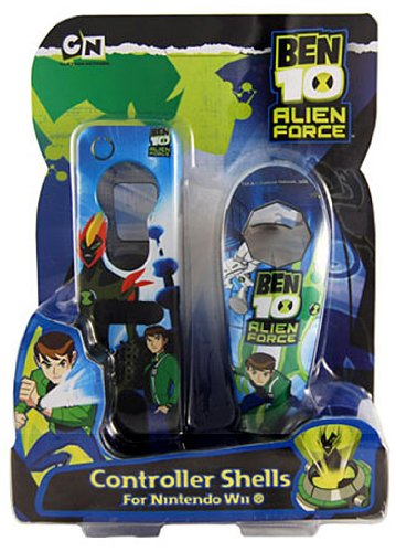 Ben10 Licenced Alien Force Nunchuck & Remote Acrylic Grip Set (Wii)