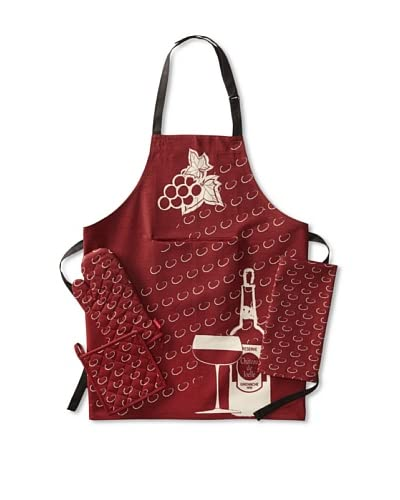 Rue Monmartre Raisins Rouges Vin Kitchen Set