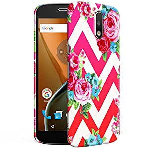 Theskinmantra Flower designs Back cover for Moto G4