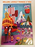 NEW Disney WonderGround Gallery Exclusive Postcard by Shag Morning in the Magic Kingdom 50th Anniversary Edition
