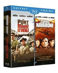 Coffret Guerre - Le pont de la rivière Kwaï + Les canons de Navarone [Blu-ray]