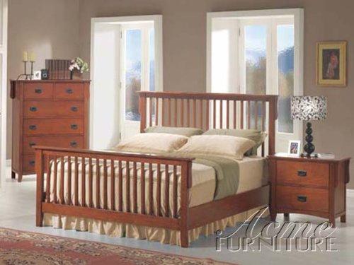 Oak Finish Eastern King Size Bed