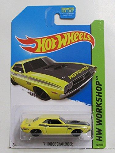 2014 Hot Wheels Hw Workshop 242/250 - '71 Dodge Challenger - Yellow