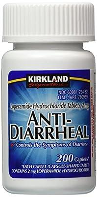 Kirkland Signature Anti-Diarrheal Loperamide Hydrochloride 2 MG Caplets
