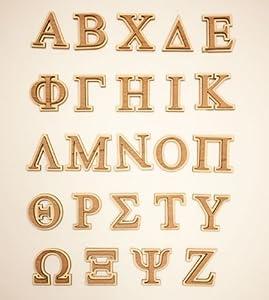 amazoncom wooden greek letters With wooden greek letters amazon