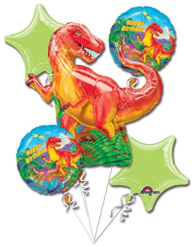 Dinosaur Party Balloon 5 Piece Bouquet