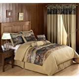 Chezmoi Collection French Country Wild Deer and Elk Design 7-Piece Comforter Set, Queen