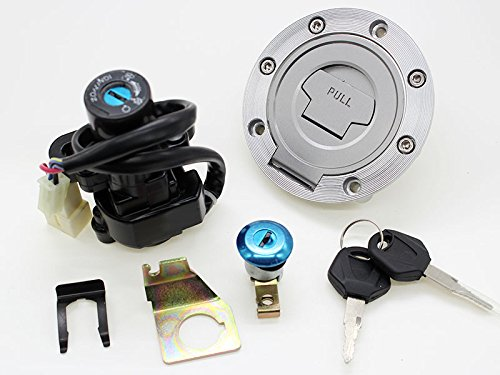 RETIT-MT Motorcycle Fuel Cover Cap Ignition Switch Lock Seat Lock 2x Keys Set For Yamaha YZF R1 R6 1992-2012 (2008 Yamaha R1 Ignition Switch compare prices)