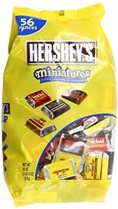Hershey's Miniatures Chocolate Bars, 56 Ounce