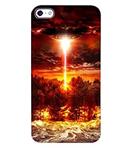 ColourCraft UFO Design Back Case Cover for APPLE IPHONE 4S