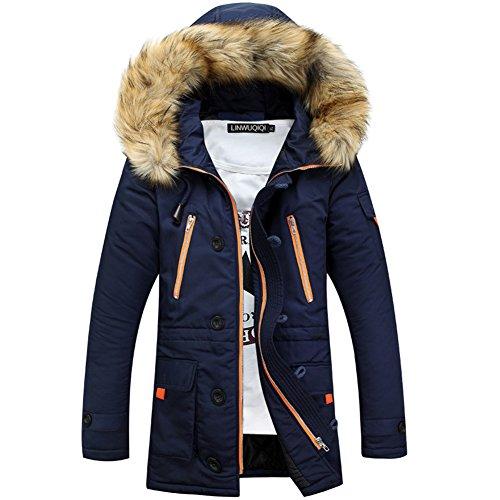 DeLamode-Mens-Fur-Cap-Cotton-Coat-Waterproof-Warm-Breathable-Zipper-Jacket