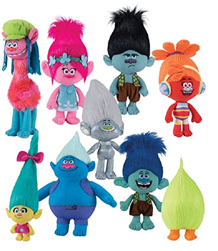 DreamWorks-Trolls-Movie-8-12-Trolls-Doll-Set-9-Piece-Set