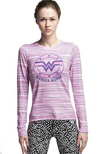 Cody Lundin® Donna Manica Lunga T-Shirt,Sport Fitness Running Yoga Danza Compressione Maglietta, Supereroe Wonder Woman Long Sleeve Shirt (M)
