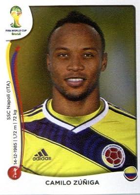 2014 Panini World Cup Soccer Sticker # 191 Camilo Zuniga Team Columbia