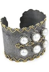 """Stella Flame """"Oceana"""" 6 Pearl Cuff Bracelet"""