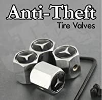 Mercedes Benz Logo Anti-Theft Tire Valve Caps by AA