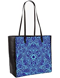 Blue And Purple Obo, Shoulder Bag Tote Faux Leather Handbag Satchel Tote