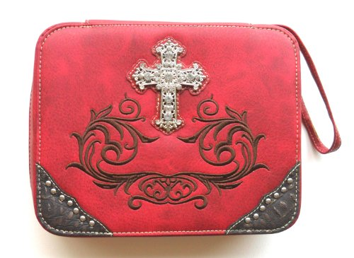 Red Bible Cover for Women Large Western Designer