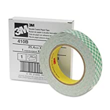 Scotch Double-Coated Tissue Tape, 1 Inch x 36 Yards, 3 Inch Core (410M)