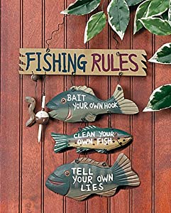 Fishing rules sign party decorations wall for Party wall regulations